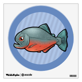 Red Bellied Piranha Wall Decal