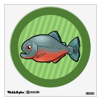 Red Bellied Piranha Wall Sticker