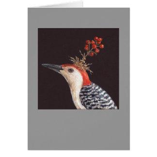 red-bellied woodpecker card