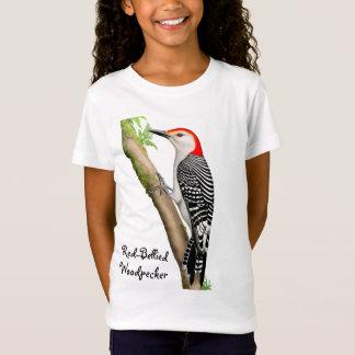 Red Bellied Woodpecker Girls Babydoll Shirt