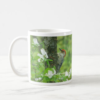 Red bellied Woodpecker on Dogwood in Spring Classic White Coffee Mug