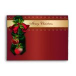 Red Bells & Ornaments Red Christmas Holiday Envelo Envelopes