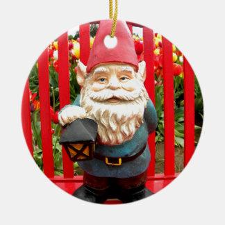 Red Bench Ceramic Ornament