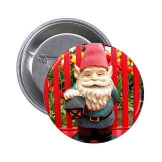 Red Bench Pinback Button