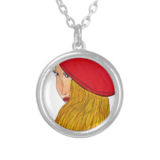 Red Beret Silver Plated Necklace