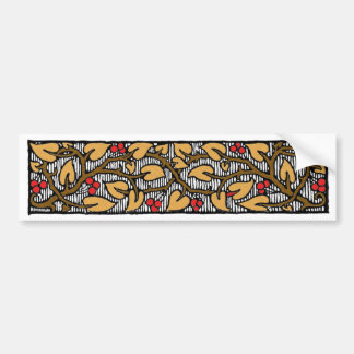 Red Berries and Leaves on the Vine Bumper Sticker