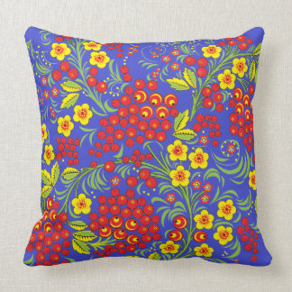 Red Berries Khokhloma Pillow