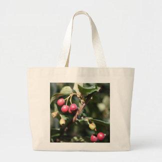 Red Berries Large Tote Bag