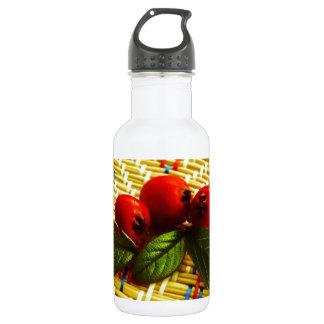red berries stainless steel water bottle