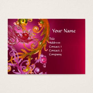 RED BERRIES SWIRLS GEMSTONE pink Business Card