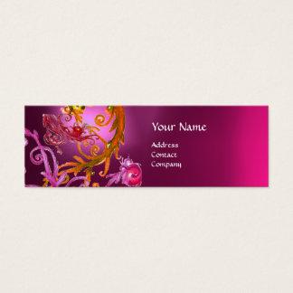 RED BERRIES SWIRLS GEMSTONE red pink Mini Business Card