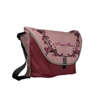 Red Berries Vines Messenger Bag