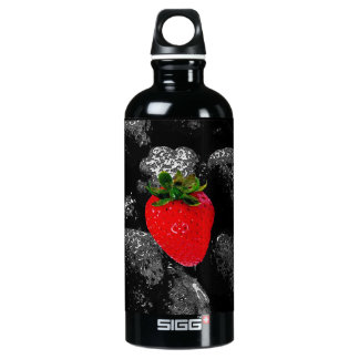 Red Berry Among The Dark Aluminum Water Bottle