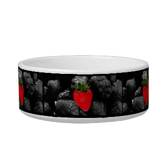 Red Berry Among The Dark Bowl