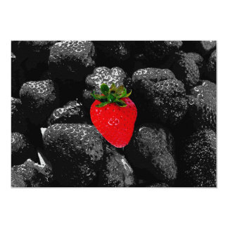 Red Berry Among The Dark 5x7 Paper Invitation Card
