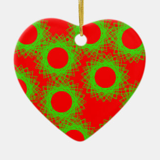 red berry lucky circle ceramic ornament