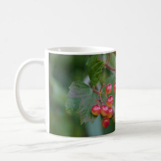 Red berry mug for a hot drink in the winter