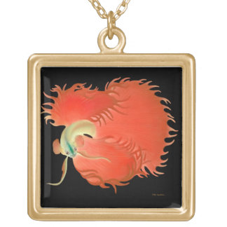 Red Betta Fighting Fish Necklace