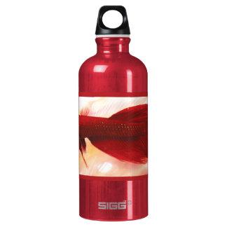 Red Betta Fish Aluminum Water Bottle