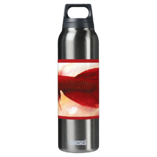 Red Betta Fish Insulated Water Bottle