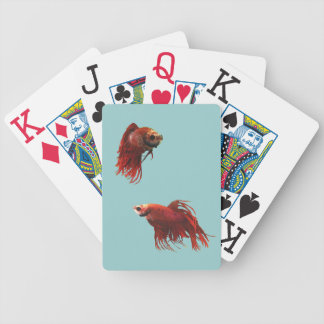 Red Betta Fish Playing Cards