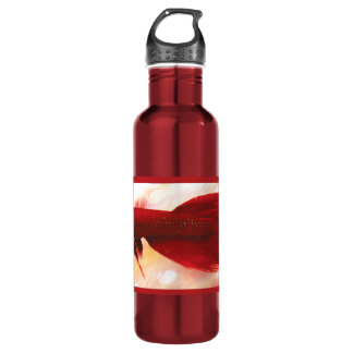 Red Betta Fish Stainless Steel Water Bottle