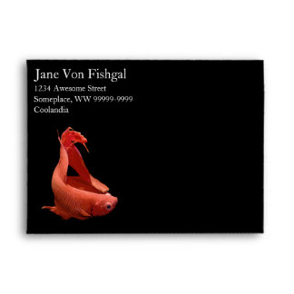Red Betta Siamese Fighting Fish Envelope