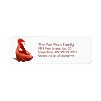 Red Betta Siamese Fighting Fish Label