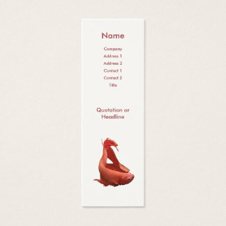 Red Betta Siamese Fighting Fish Mini Business Card