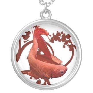Red Betta Siamese Fighting Fish Custom Jewelry
