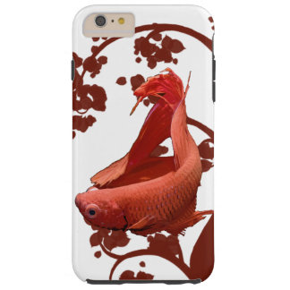 Red Betta Siamese Fighting Fish Tough iPhone 6 Plus Case
