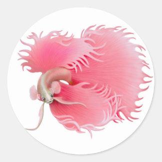 Red Betta Splendens Fish Sticker