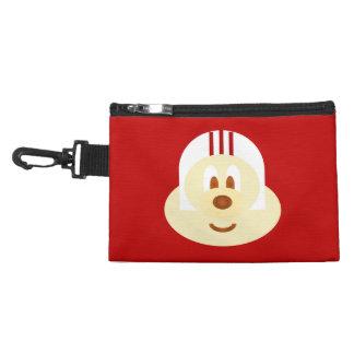 Red Bg & White Helmet 鮑 鮑 Gray Clip Bag