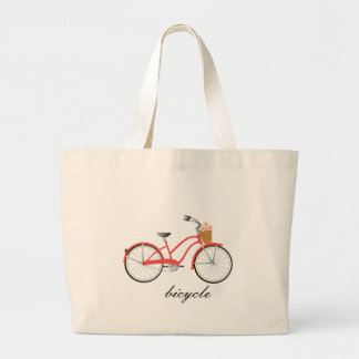 Red Bicycle Canvas Bags