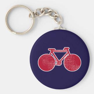 red bicycle / biking keychain