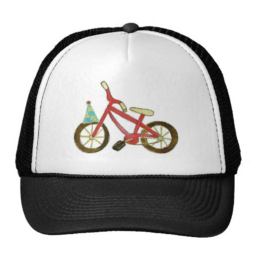 Red Bicycle Birthday Hat