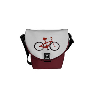 Red Bicycle Courier Bag