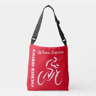 Red Bicycle Courier Cross Body Bag
