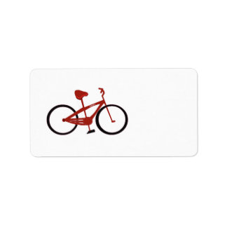 Red Bicycle Custom Address Labels