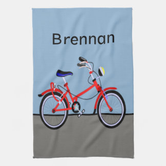 Red Bicycle Hand Towel