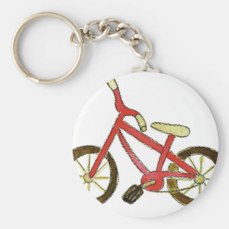 Red Bicycle Keychain