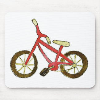 Red Bicycle Mouse Pad