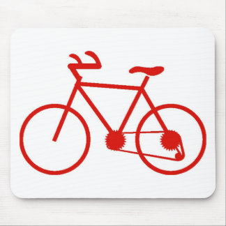 Red Bicycle Mouse Pad Custom Designed