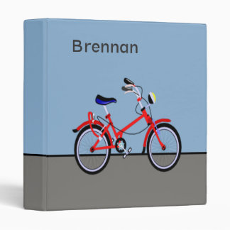 Red Bicycle Personalize Binder