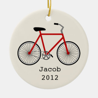 Red Bicycle Personalized Ornament