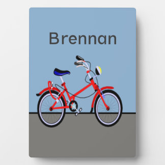 Red Bicycle Plaque