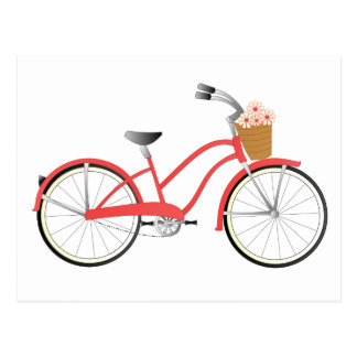 Red Bicycle Post Card