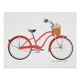 Red Bicycle Posters