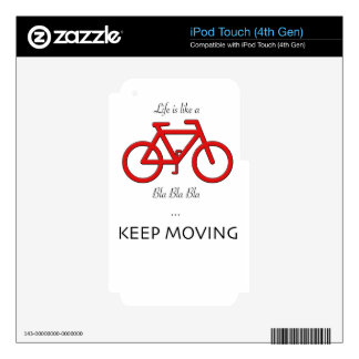 red bicycle quote decals for iPod touch 4G