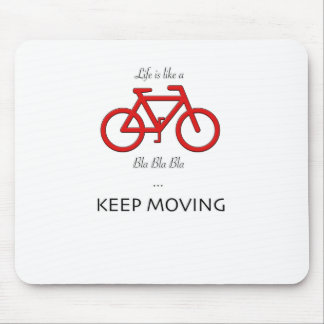red bicycle quote mouse pad